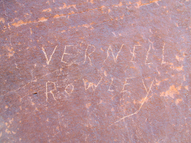 Vernell Rowley inscription