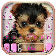Cute Tongue Cup Puppy Keyboard Theme APK for Bluestacks