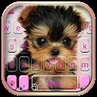 Cute Tongue Cup Puppy Tema de teclado icon