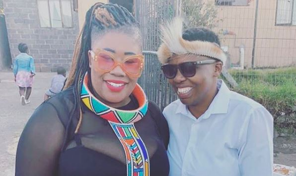 Nomsa Buthelezi and her girlfriend Zandile.