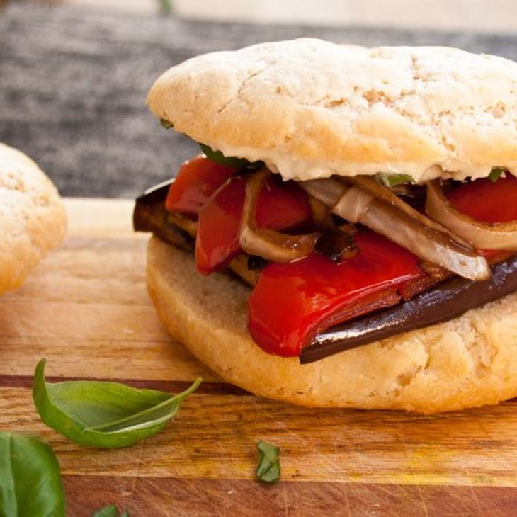 Balsamic Roasted Vegetable Sandwich