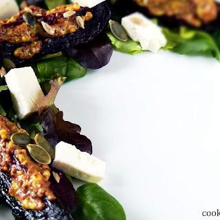 Roast Beetroot and feta salad.
