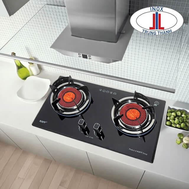 Khu đặt bếp gas bếp nấu là trung tâm của căn bếp.