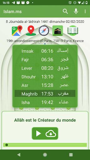 Islam.ms Prayer Times Qibla finder Locator Compass screenshot 1