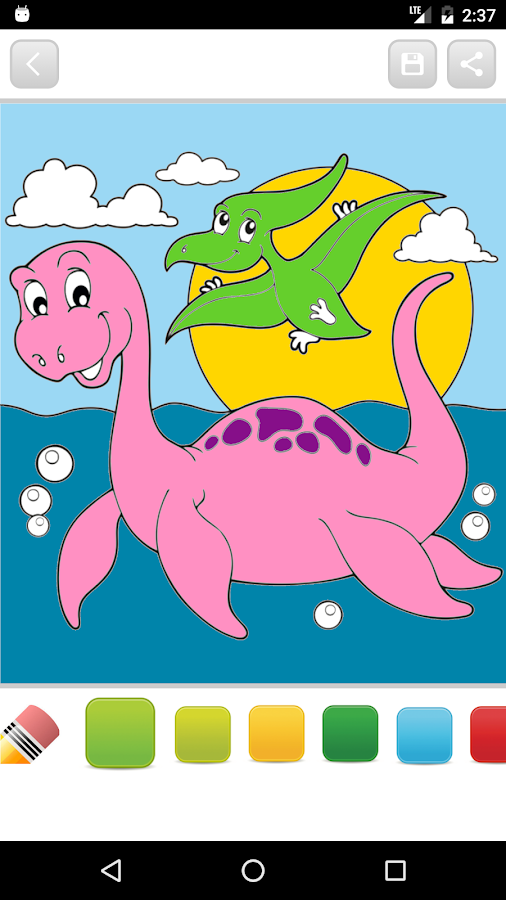 Coloring Books For Adults Dinosaurs : Dinosaur kids coloring book android apps on google play
