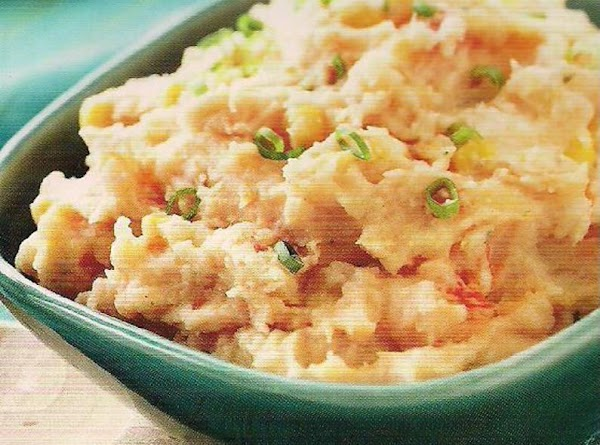 Cheddar, Corn And Salsa Mashed Spuds Recipe