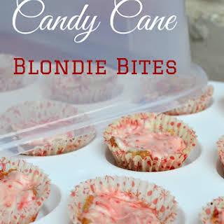 Candy Cane Blondie Bites.