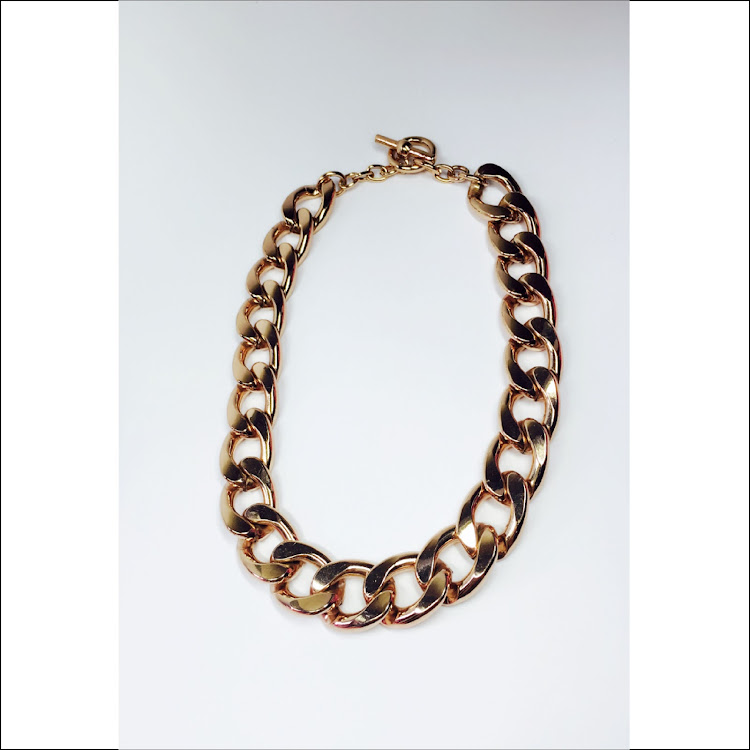 N043 - RG. Gradated Chain Necklace by House of LaBelleD.