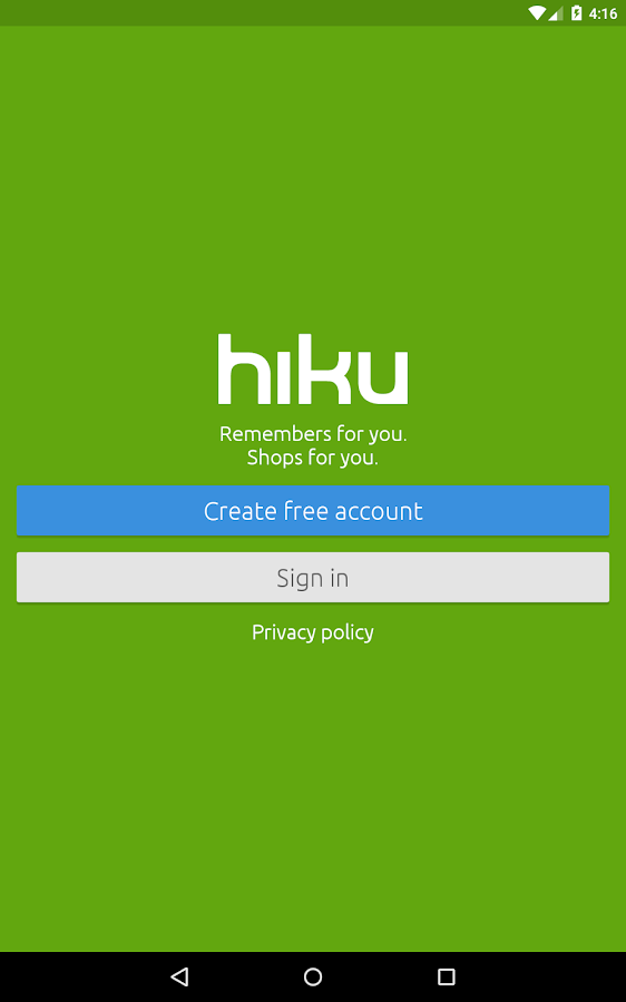 hiku- screenshot