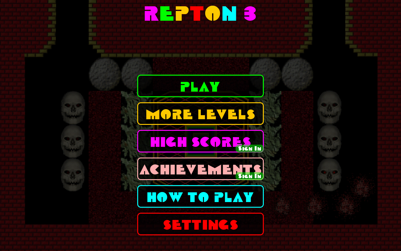 Repton 3- screenshot