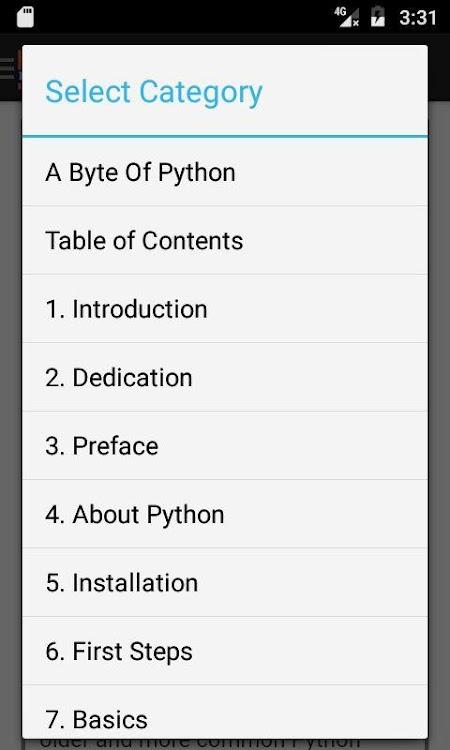 Python Developer's Handbook (Manual) – (Android Apps) — AppAgg