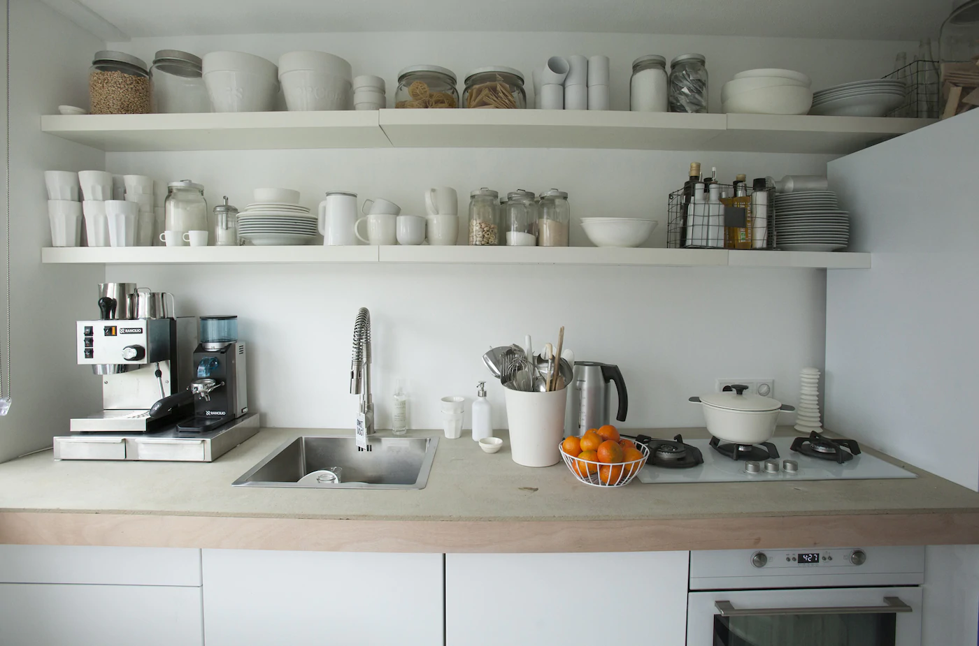 Tiny kitchen well organised