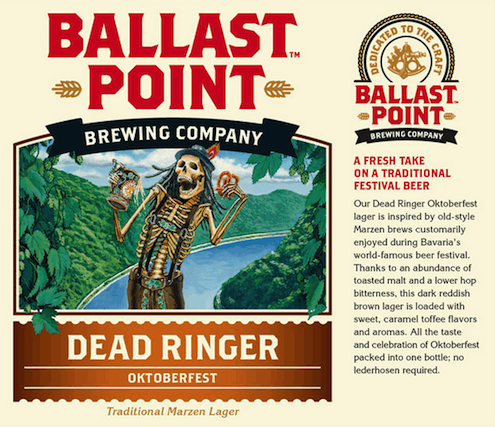 Logo of Ballast Point Dead Ringer Oktoberfest