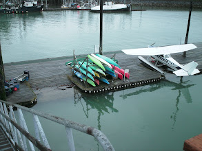Photo: The sea plane and kayak dock in Wrangell, Alaska.