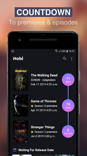 Hobi: TV Series Tracker, Trakt Client For TV Shows screenshot