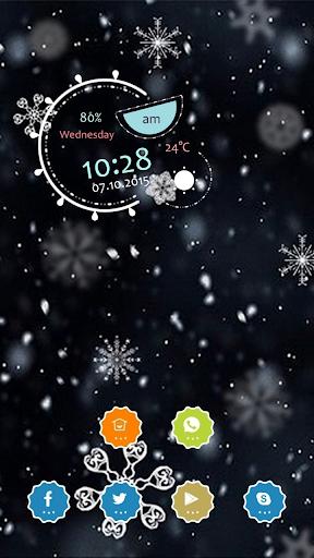 Beautiful Snowflakes Theme
