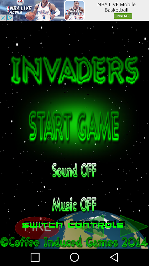 Space Invaders 2016- screenshot