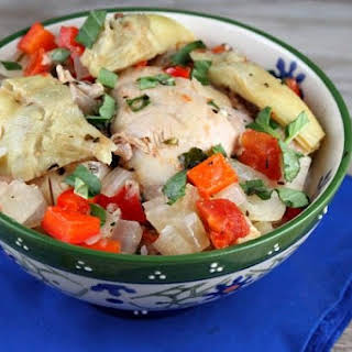 Slow Cooker French Basil Chicken.