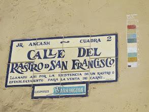 Photo: Jirón Ancash. O Del Rastro - San Francisco Bar Restaurante Cordano Centro de Lima Mayo - 2014