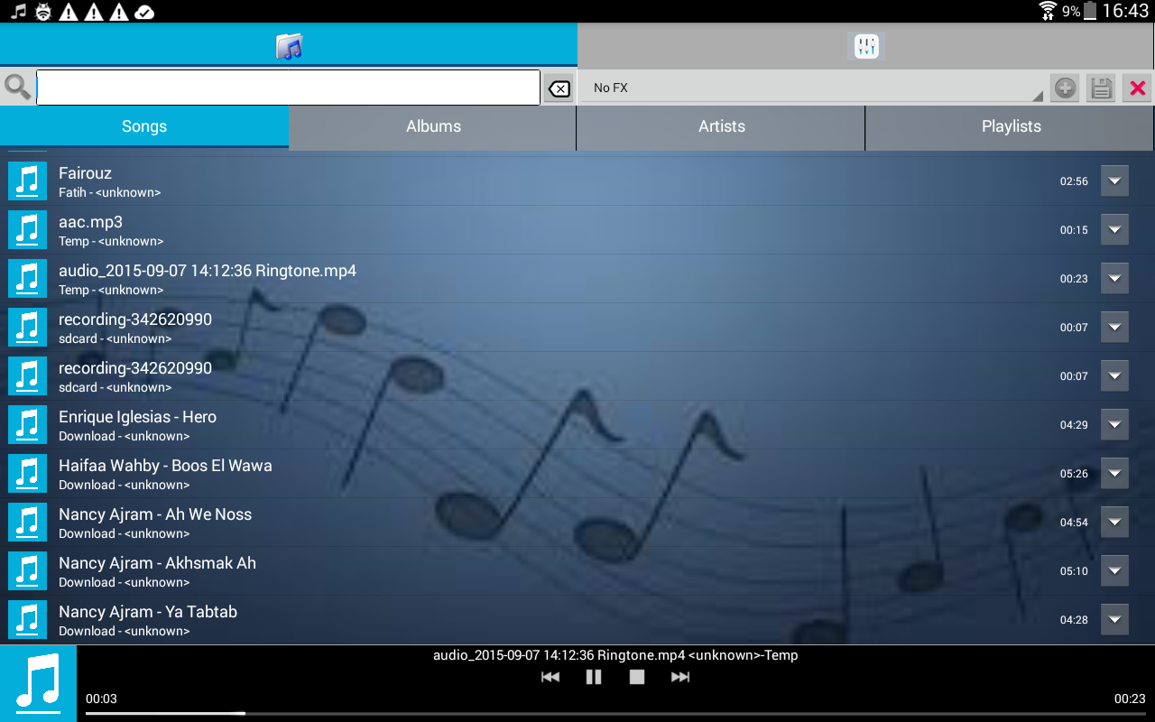FXMusic Audio Player Karaoke- screenshot