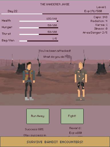 u2622 The Wanderer : Text-based Adventure Survival apkdebit screenshots 12
