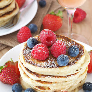 Champagne Pancakes with Berries.