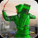 Green Arrow Super hero games: Bow and arrow games icon