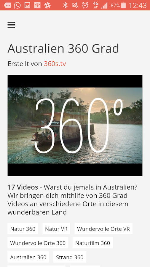 360s.tv - Youtube VR Videos- screenshot