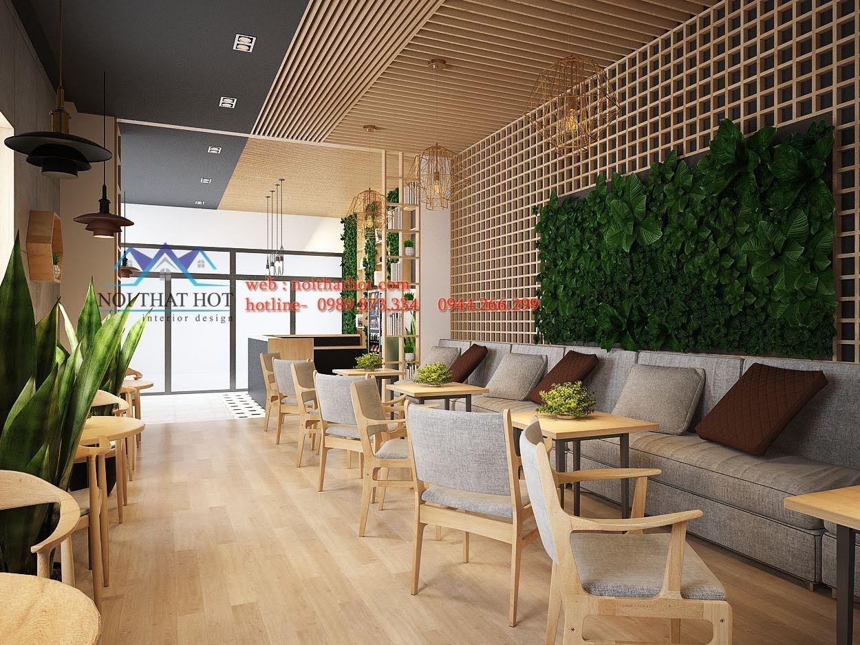 thiết kế quán trà sữa Samcha 6