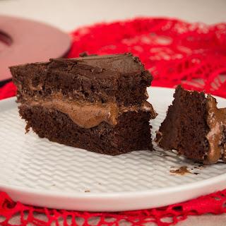 Gluten-Free, Vegan Triple Chocolate Cake.