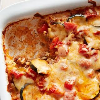 Cheesy Beef and Tomato Casserole Recipe