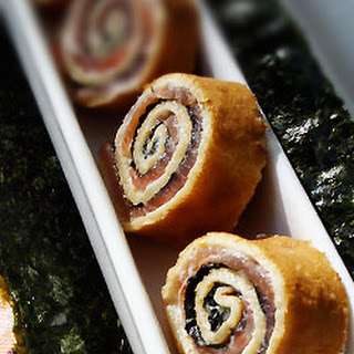 Smoked Salmon Crepe 'sushi'