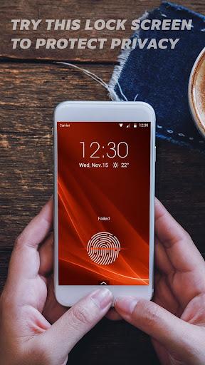 Fingerprint lock screen for prank--Touch ID 9.3.0.2041 screenshots 2