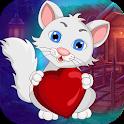 Best Escape Games 41 - Lovely Heart Cat Escape icon