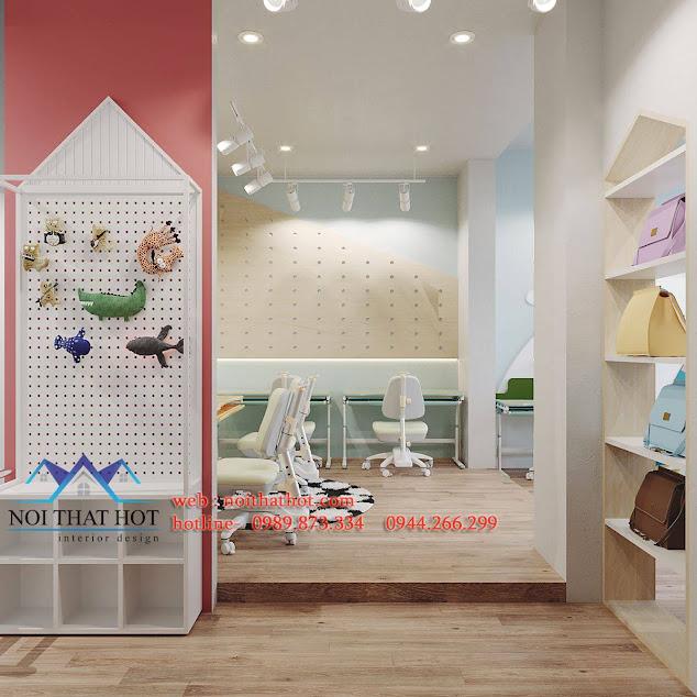 thiết kế cửa hàng đồ nội thất cho bé