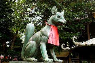 Photo: Kitsune (róka), Toyokawa Inari Jinja, Aoyama