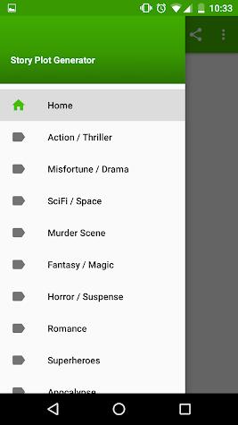 Story Plot Generator Pro Screenshot