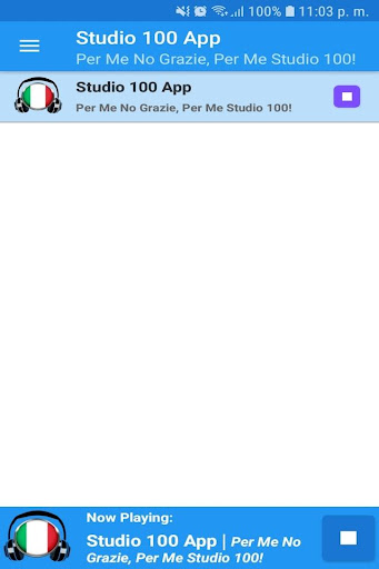 Studio 100 App Gratis Radio FM IT Free Online screenshots 1