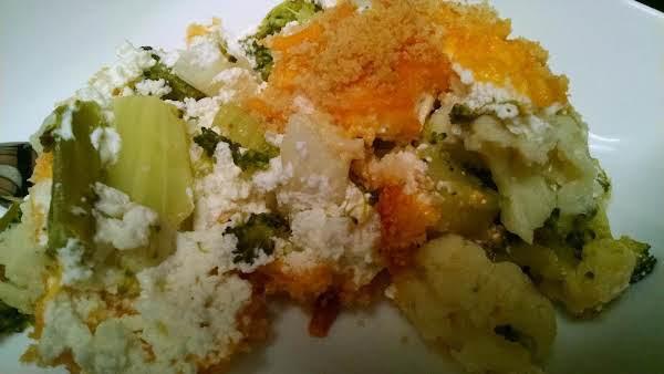 Easy Cauliflower-broccoli-au-gratin
