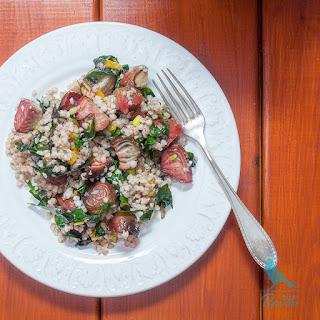 Chioggia Beets And Buckwheat Salad.