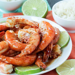 Sweet Chili Shrimp with Lime.