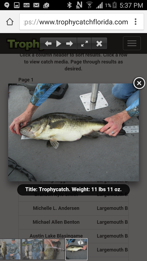 TrophyCatch Florida- screenshot