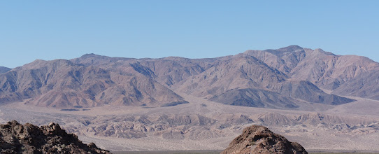Photo: Looking west of Death Valley toward the Panamint Range