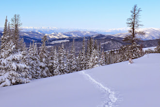 Photo: View of distant mountains on way down from lookout