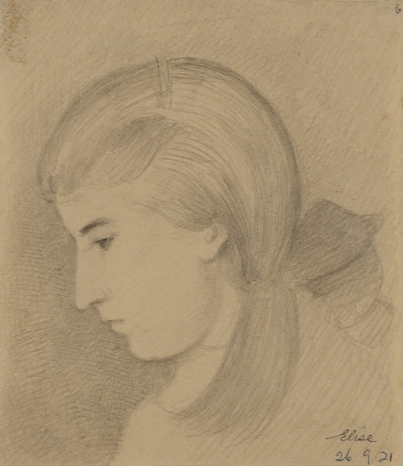 <p> <strong>L&eacute;on Coupey<br /> Portrait of Elise Coupey</strong><br /> Graphite on paper<br /> 9&quot; x 7&quot;<br /> 1921<br /> Collection Pierre Coupey, Vancouver</p> <p> Elise Coupey<br /> 1907 - 2001</p> <p> <br /> &nbsp;</p>