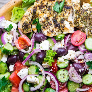 Grilled Greek Chicken Salad Recipe