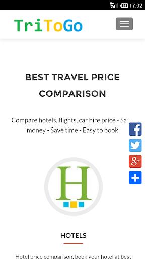 Tritogo-比较酒店 飞机票和租车的价格