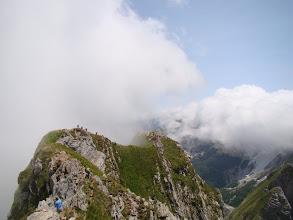 Photo: Na wąskiej grani Monte Pisanino