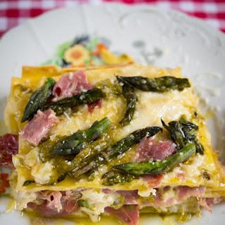 Asparagus And Ham Lasagna For A Taste Of Spring.