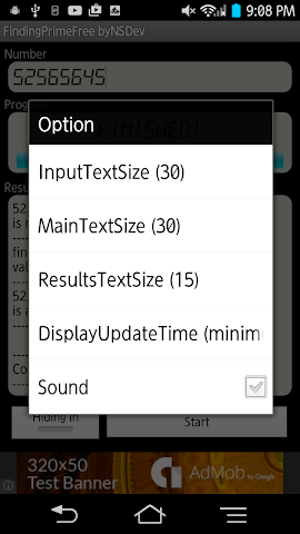 android FindingPrimeFree byNSDev Screenshot 2